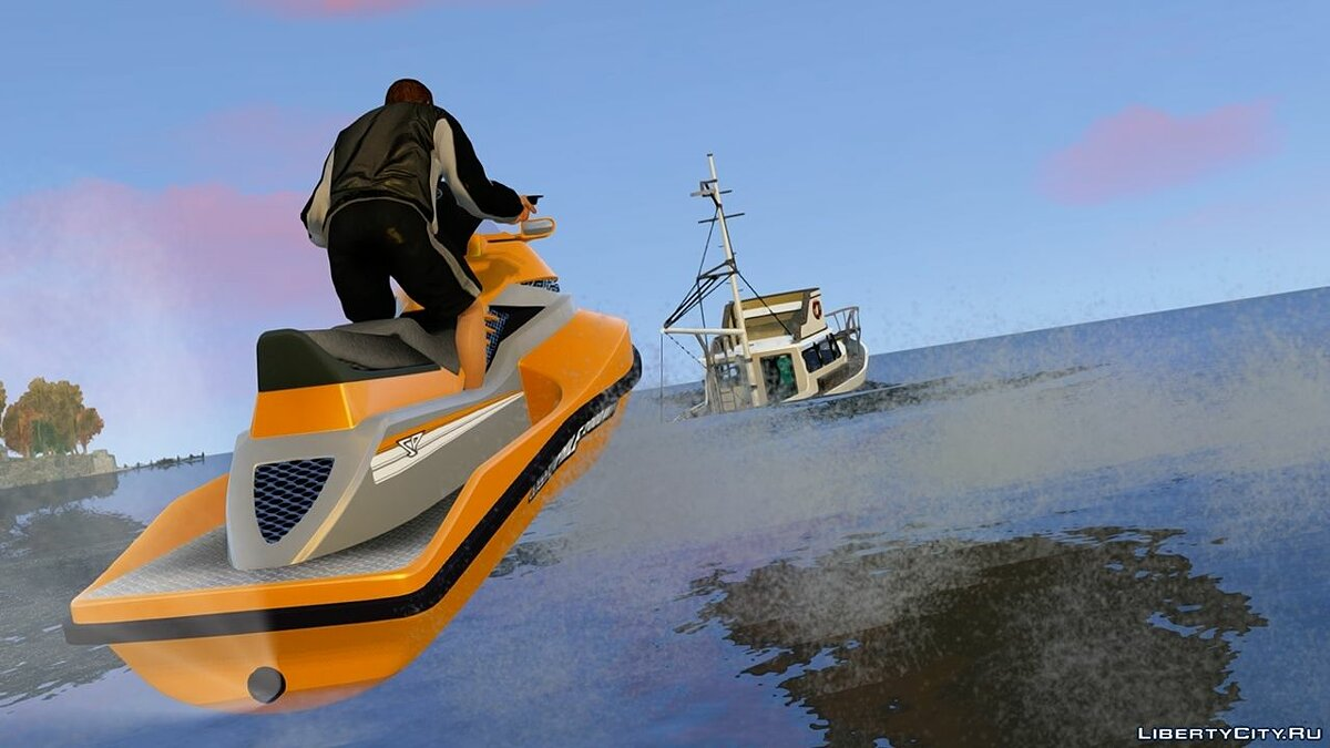 ��одка и катер GTA V PC Sea Shark для GTA 4