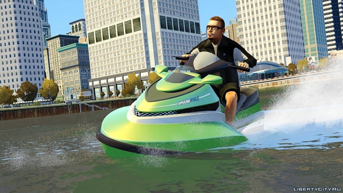 Лодка и катер GTA V PC Sea Shark для GTA 4