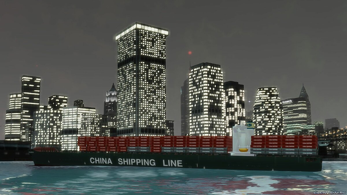 ��одка и катер World's Biggest Container Ship для GTA 4