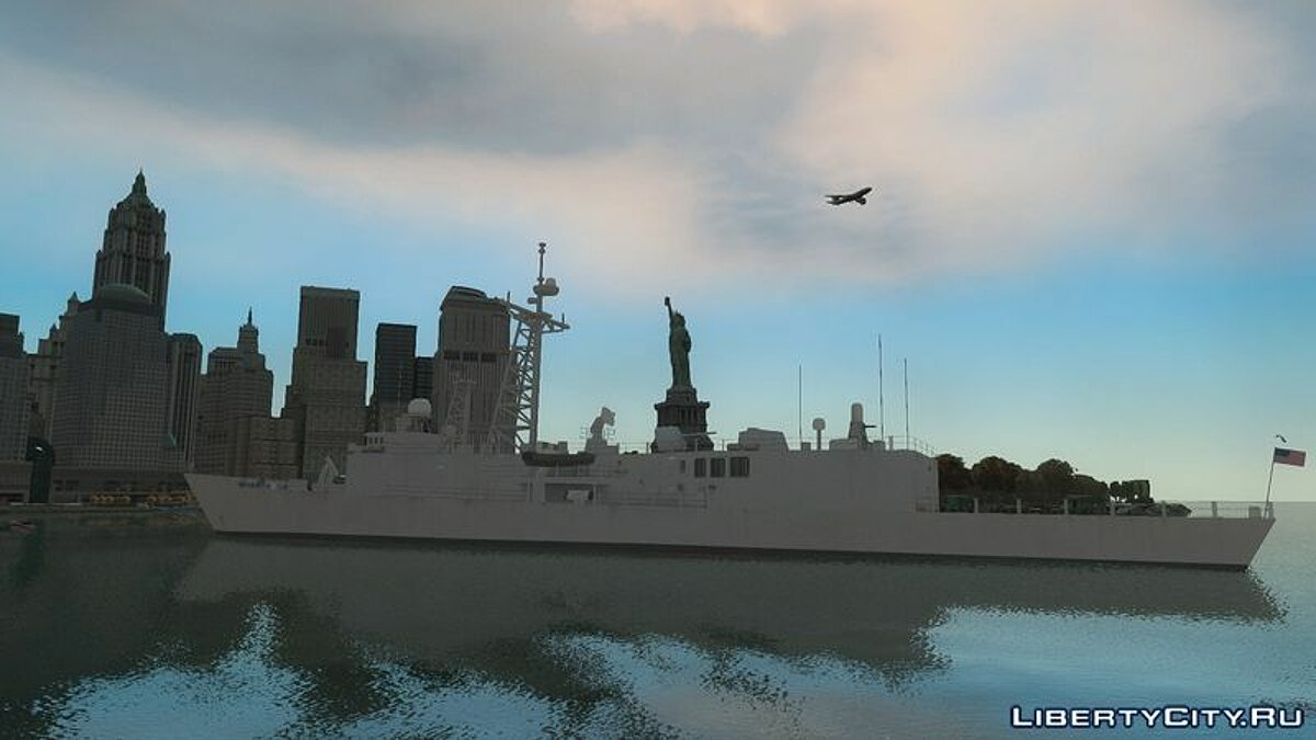��одка и катер US Navy Frigate для GTA 4
