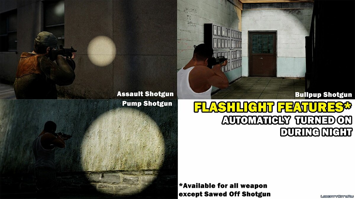 GTA V Shotgun Pack with Flashlight для GTA 4 - скриншот #4