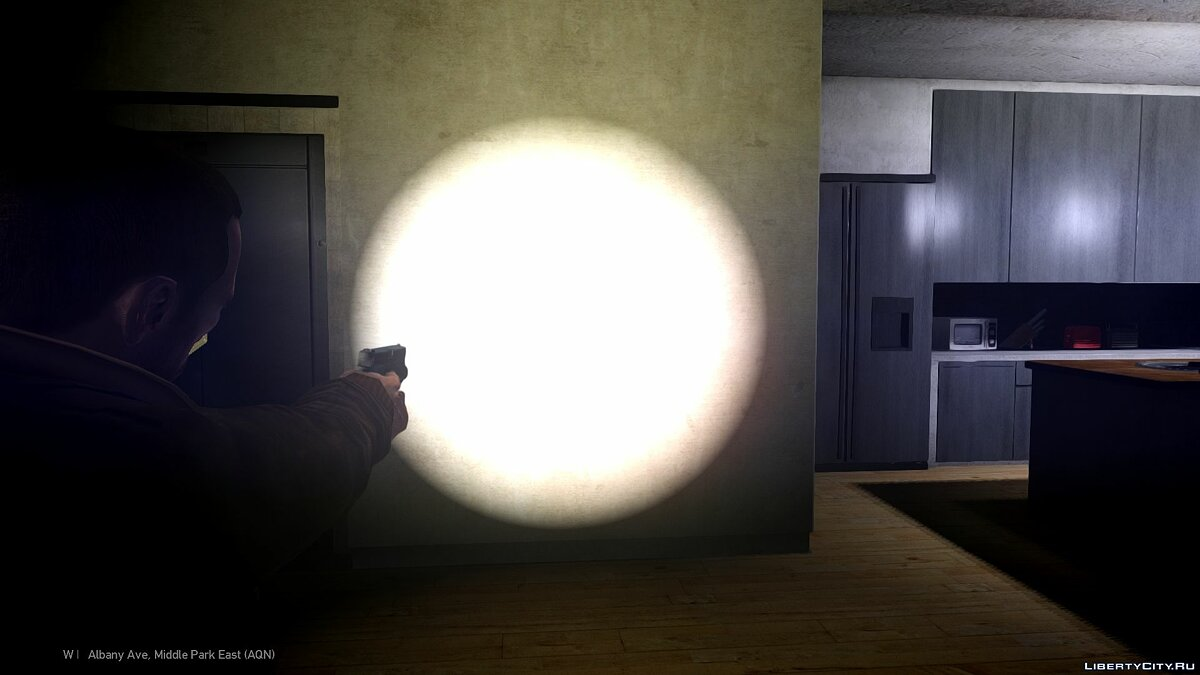 Оружейный мод Glock 17 working flashlight для GTA 4