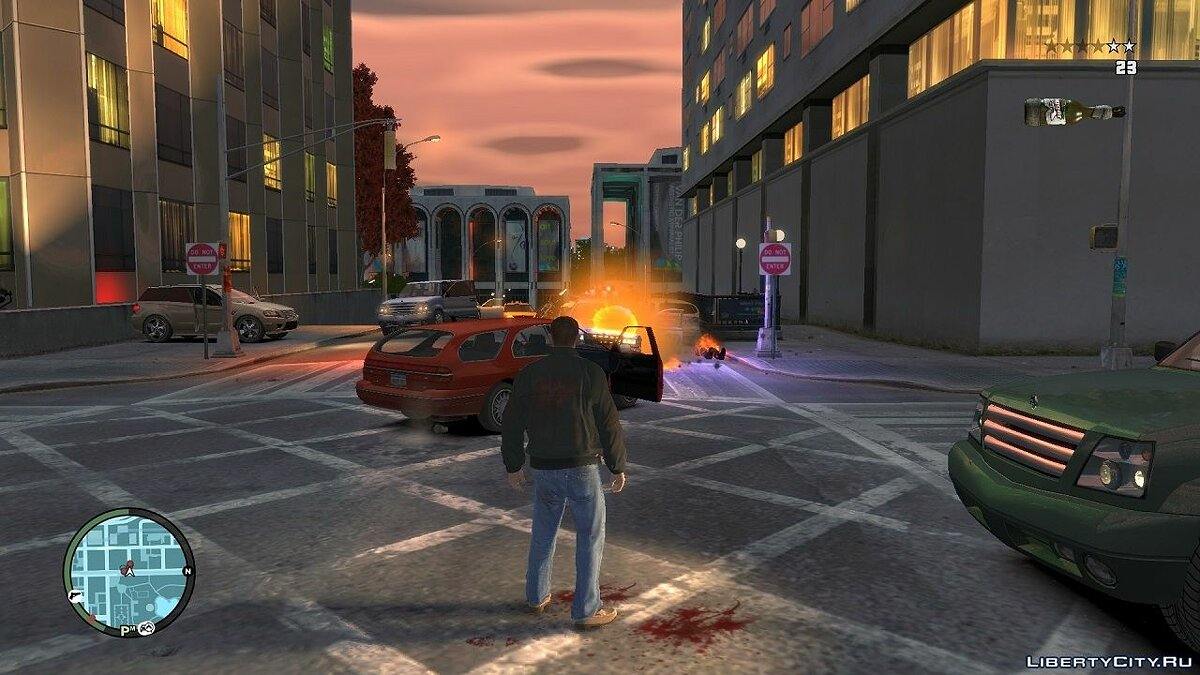 Blue Light For Molotov Explosion для GTA 4 - скриншот #6