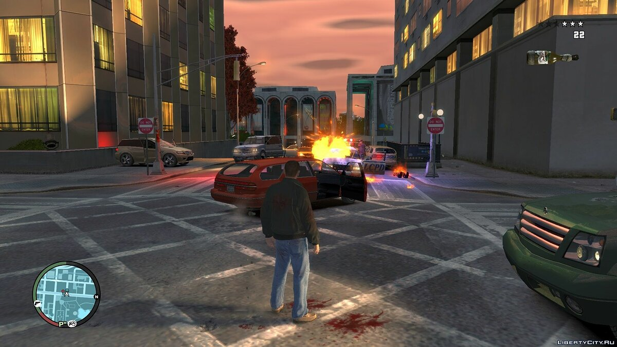 Blue Light For Molotov Explosion для GTA 4 - скриншот #7