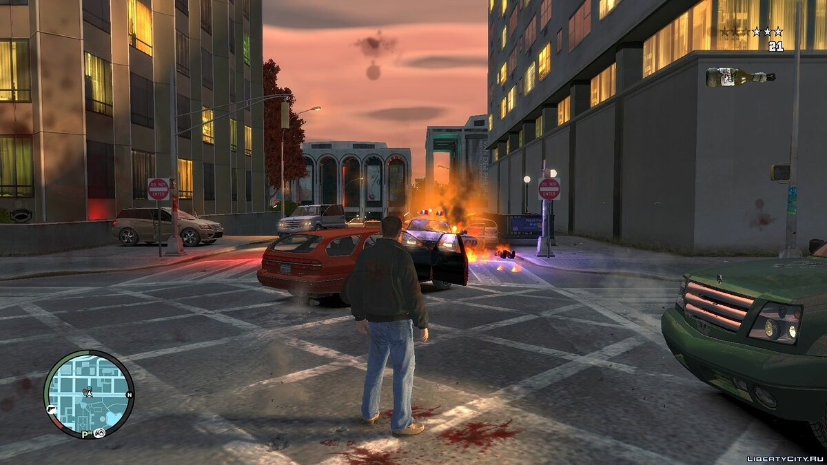 Blue Light For Molotov Explosion для GTA 4 - скриншот #8