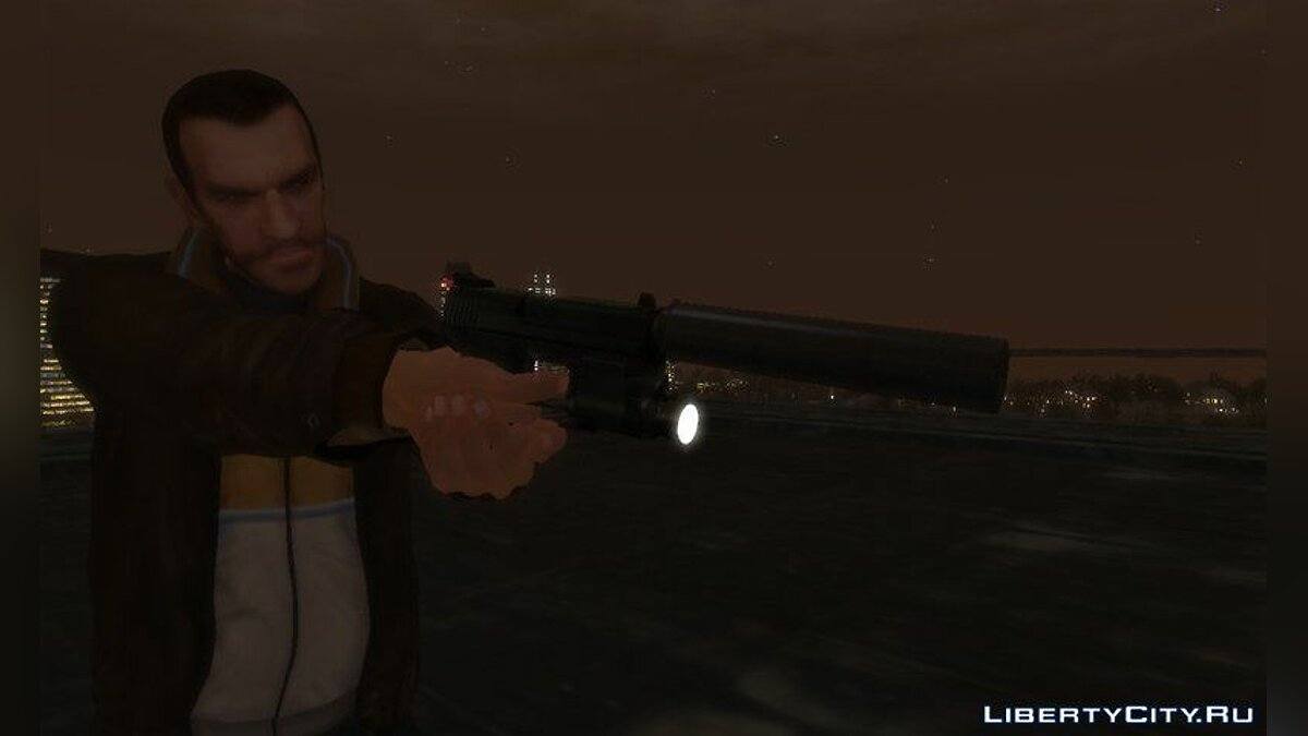 HK USP 45 with Working Flashlight v1.5 для GTA 4 - скриншот #5