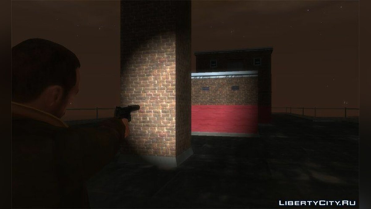 HK USP 45 with Working Flashlight v1.5 для GTA 4 - скриншот #3