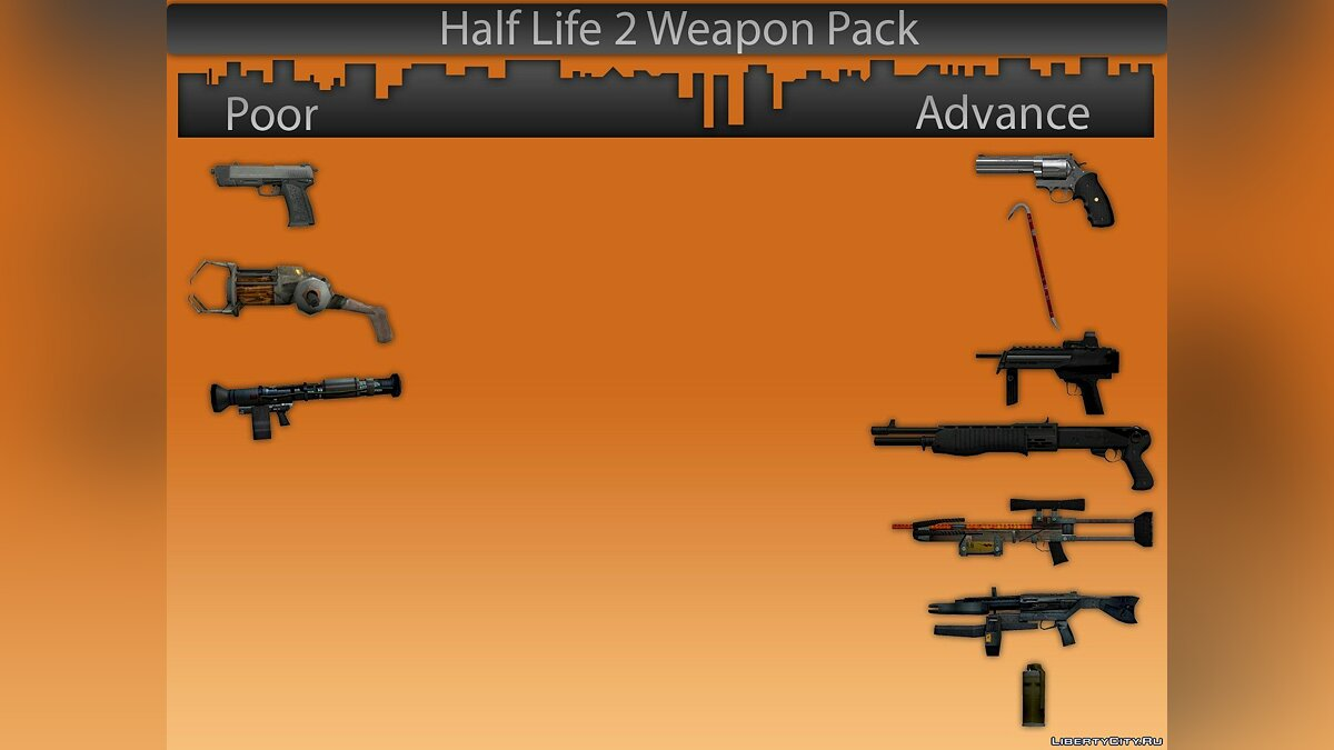 Half Life 2 Weapon Pack  для GTA 4 - Картинка #1