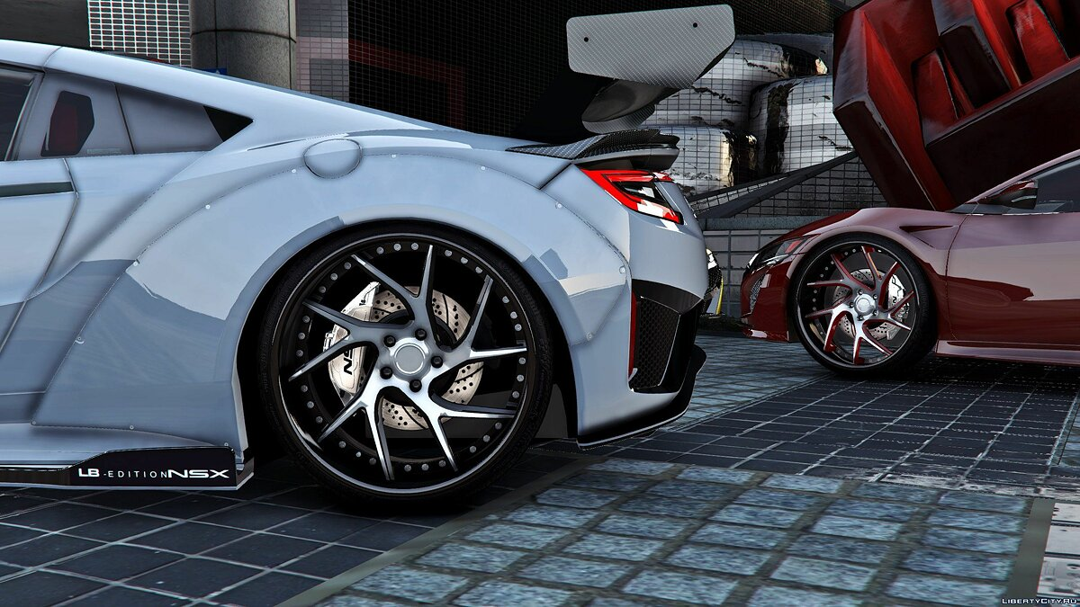 Машина Acura 2016 Acura NSX x Liberty Walk x Savini [Mod-Kit | Add-on] 1.0 для GTA 5
