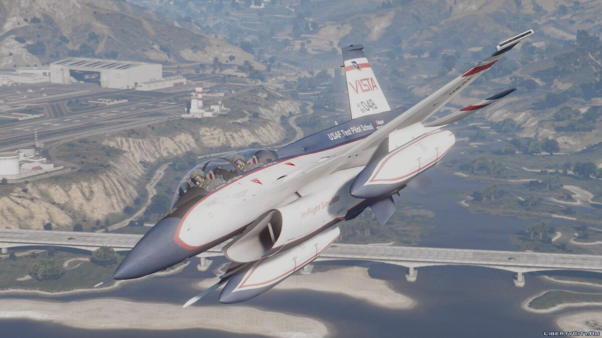 NF-16D Vista with 3D Thrust Vectoring Nozzle [Add-On] для GTA 5 - скриншот #4