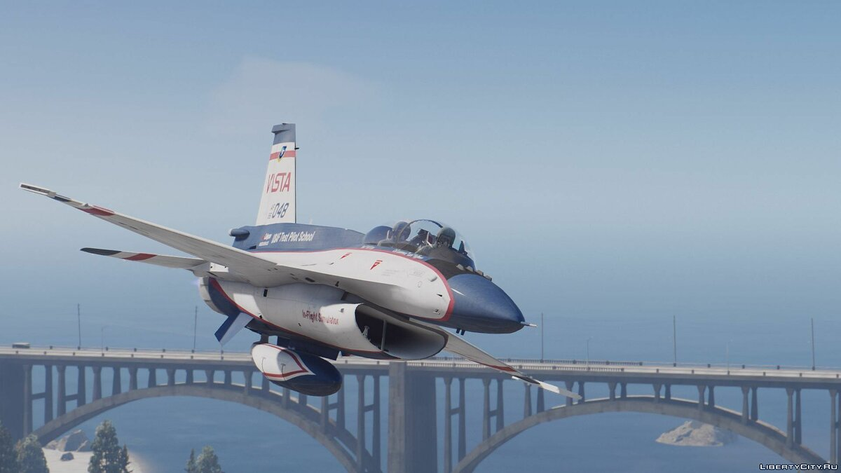 NF-16D Vista with 3D Thrust Vectoring Nozzle [Add-On] для GTA 5 - скриншот #6