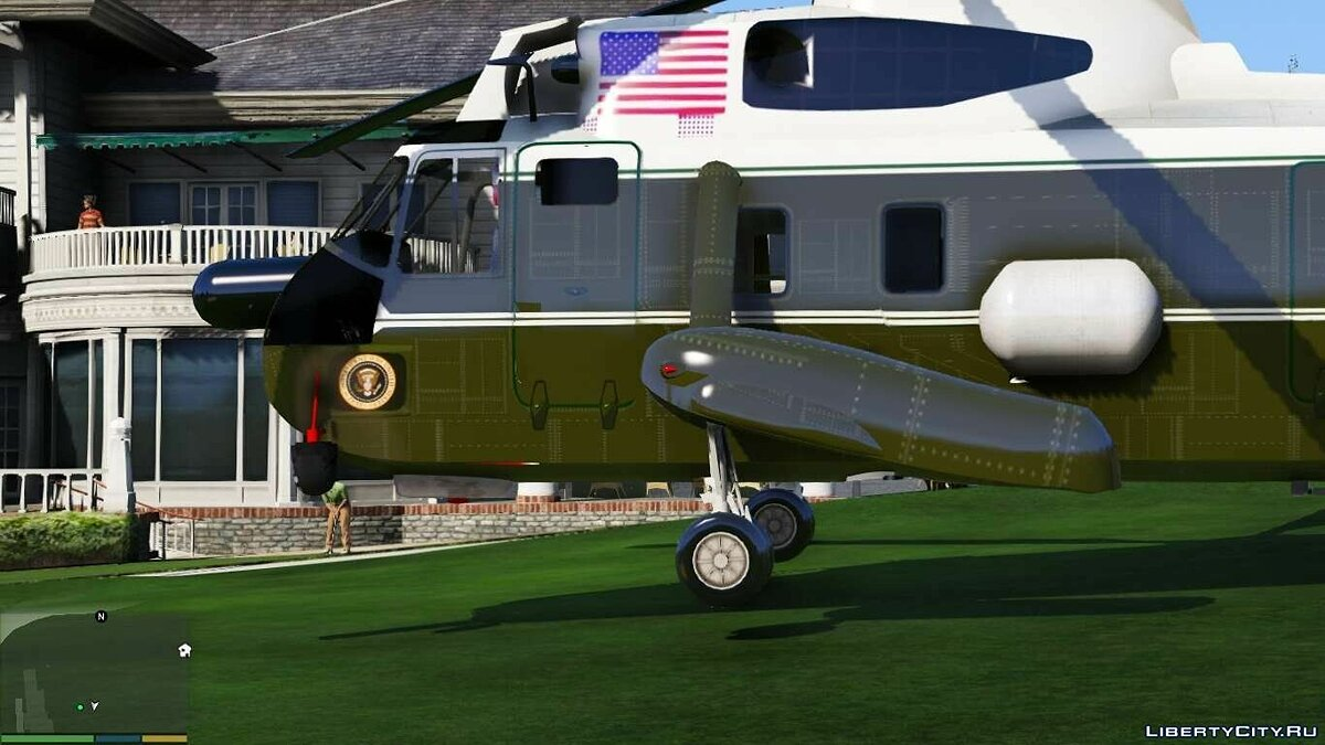 Самолет и вертолет Sikorsky SH-3 Marine One [Add-On / Replace] 1.3 для GTA 5