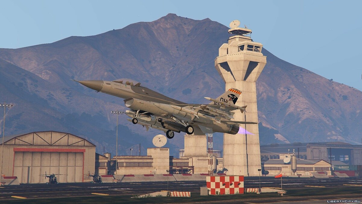F-16C Fighting Falcon для GTA 5 - скриншот #6