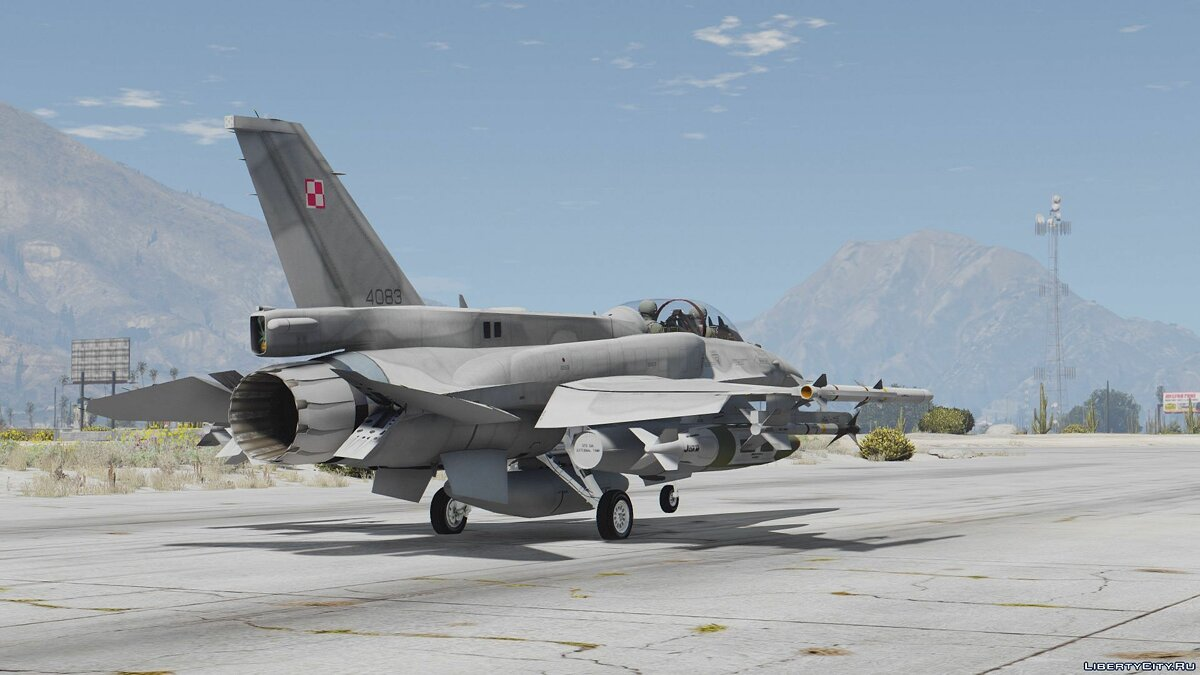 F-16D/F-16F International Pack (UAE, USAF, Poland, Pakistan, Turkey) [Add-On] для GTA 5 - скриншот #4