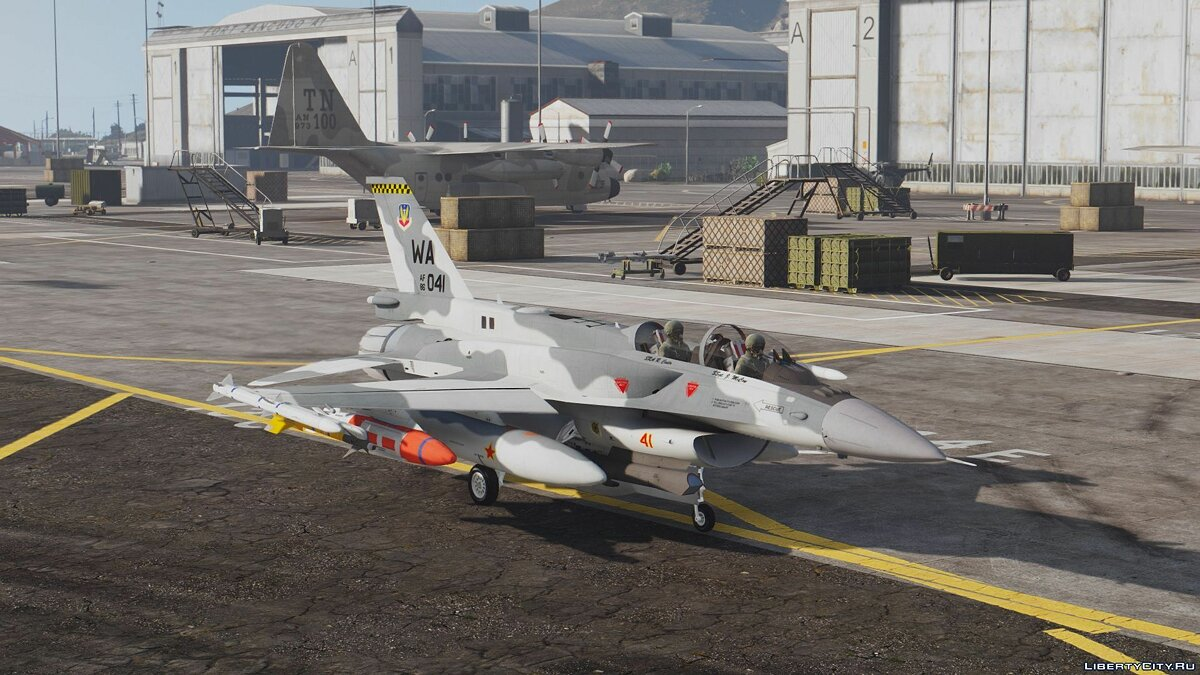F-16D/F-16F International Pack (UAE, USAF, Poland, Pakistan, Turkey) [Add-On] для GTA 5 - скриншот #8