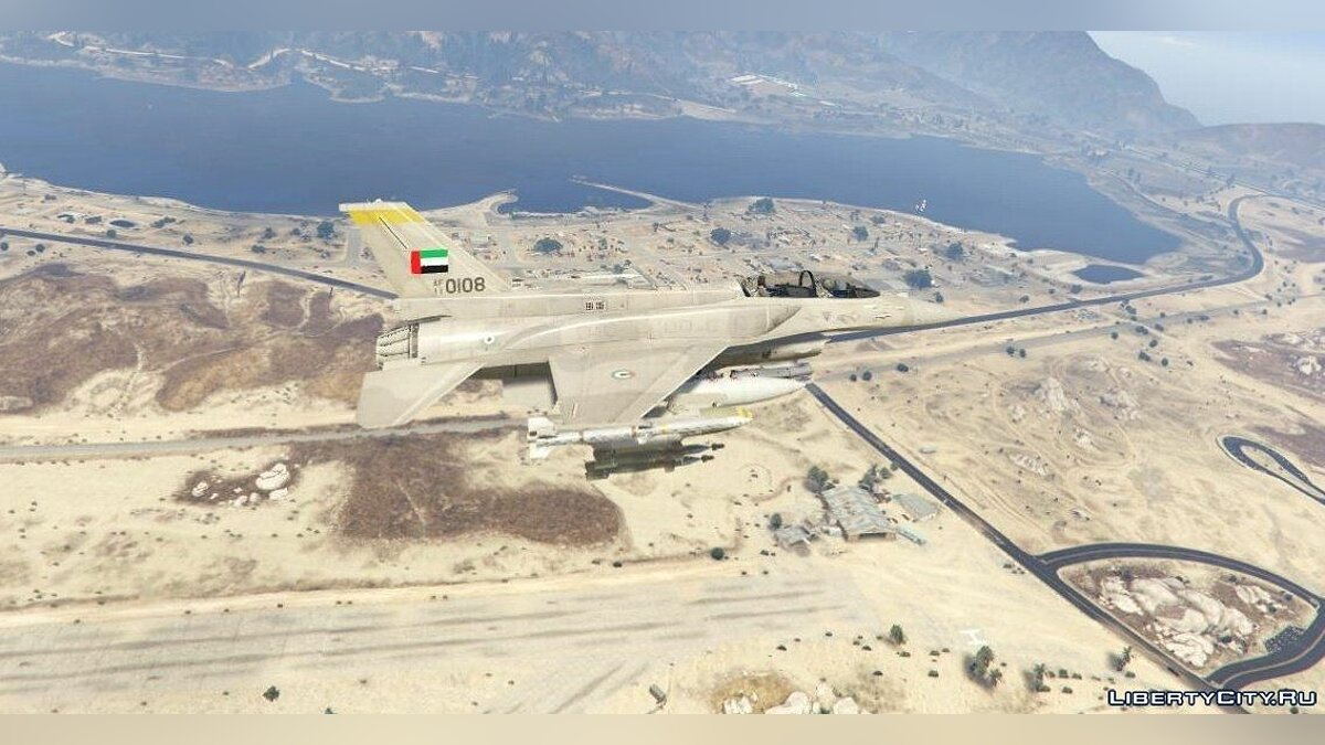 Desert Falcon F-16 F BLK 60/61 UAE [Add-On] 1.0 для GTA 5 - скриншот #2
