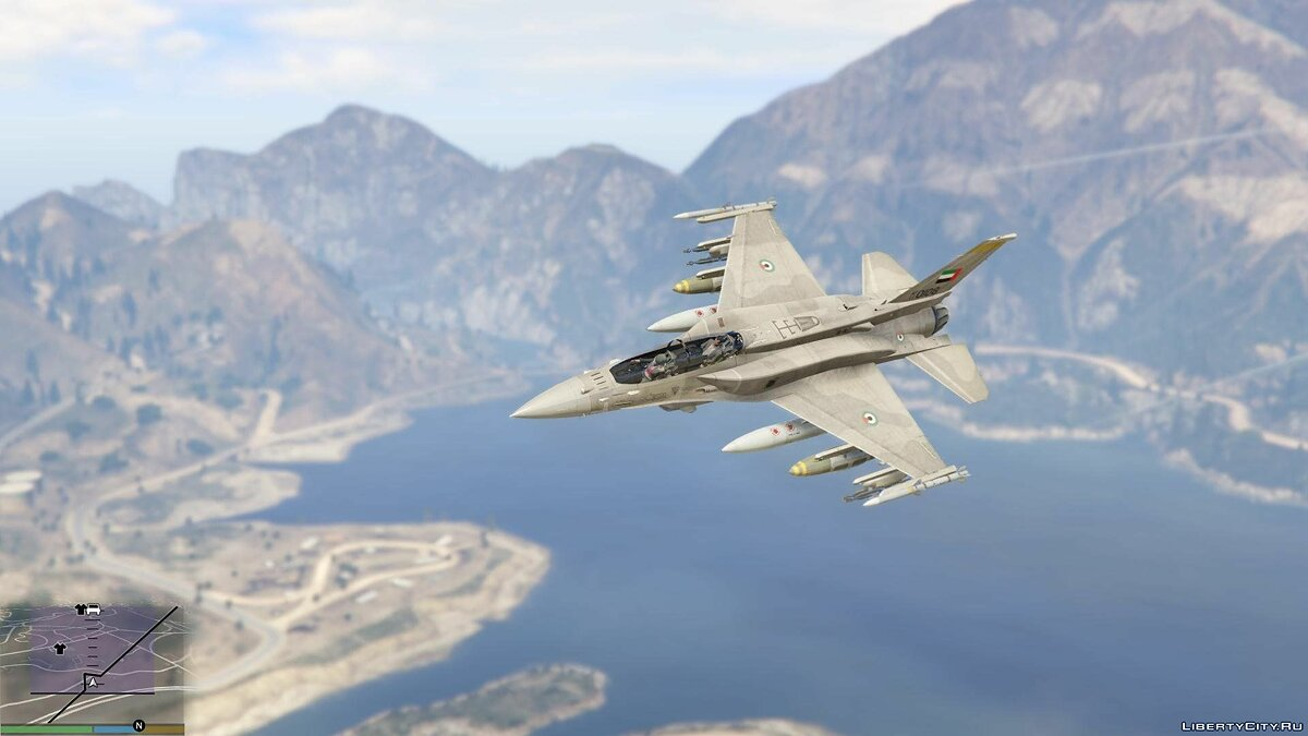 Desert Falcon F-16 F BLK 60/61 UAE [Add-On] 1.0 для GTA 5