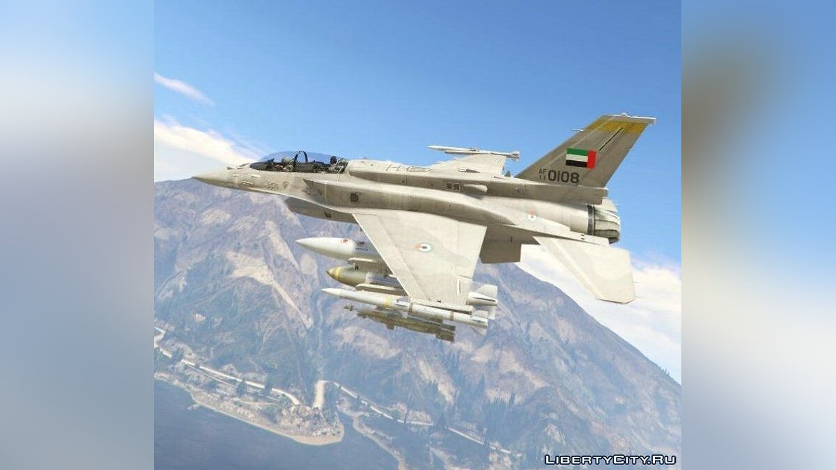 Desert Falcon F-16 F BLK 60/61 UAE [Add-On] 1.0 для GTA 5 - скриншот #7