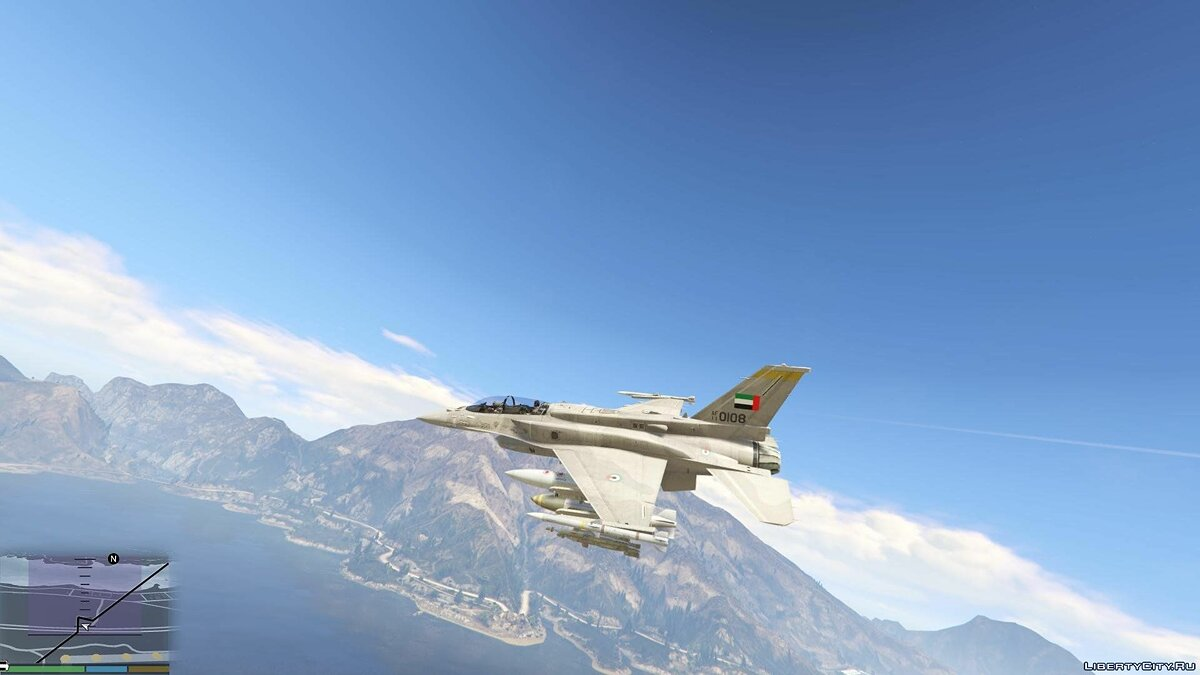 Desert Falcon F-16 F BLK 60/61 UAE [Add-On] 1.0 для GTA 5 - скриншот #5