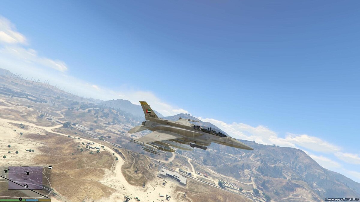 Desert Falcon F-16 F BLK 60/61 UAE [Add-On] 1.0 для GTA 5 - скриншот #4