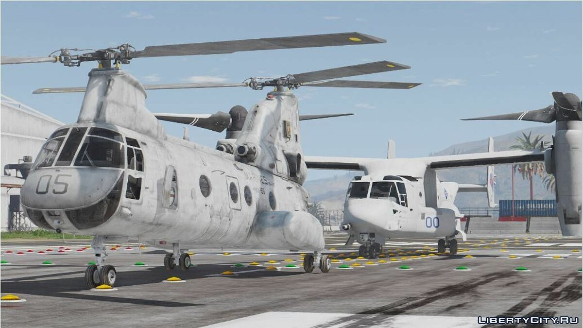USMC MV-22B (8 liveries w/ illuminated rotors) 1.0 для GTA 5 - скриншот #2