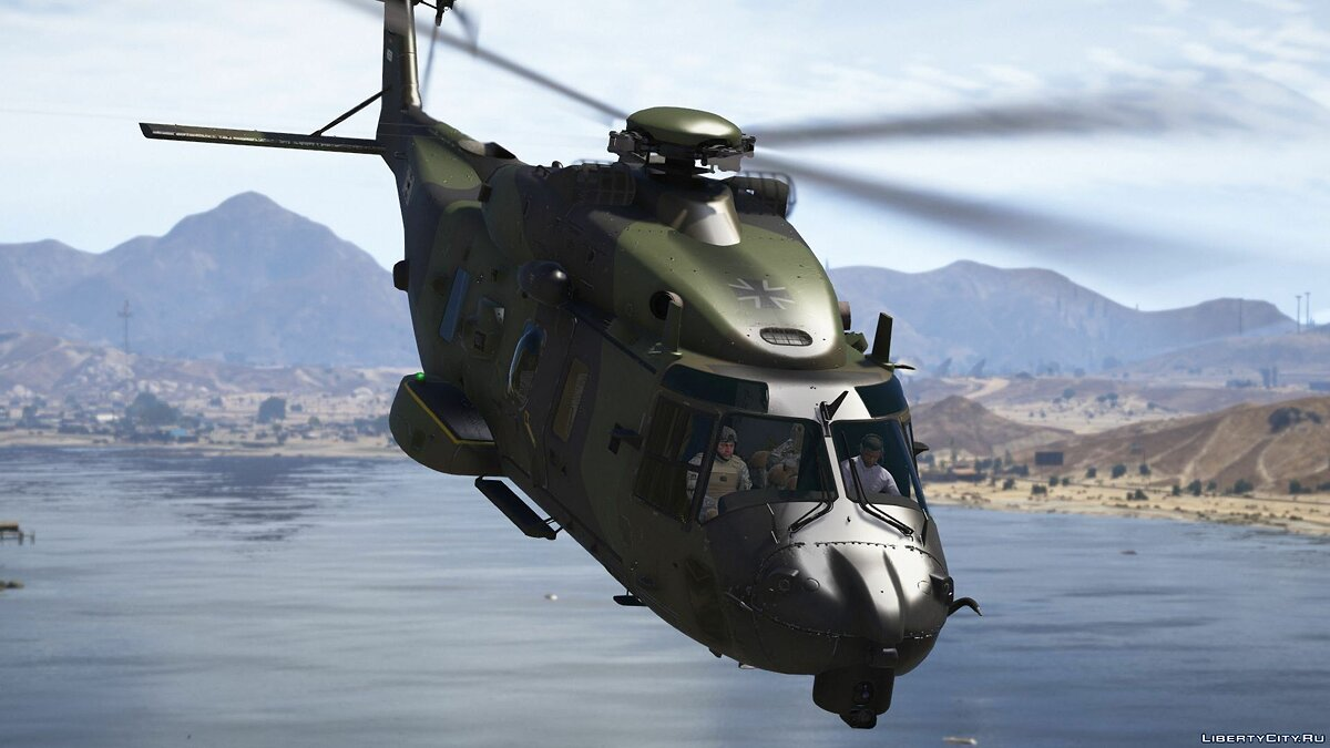 NH90 German Transport Helicopter [Add-On | Custom seat layout] 1.0 для GTA 5 - скриншот #5