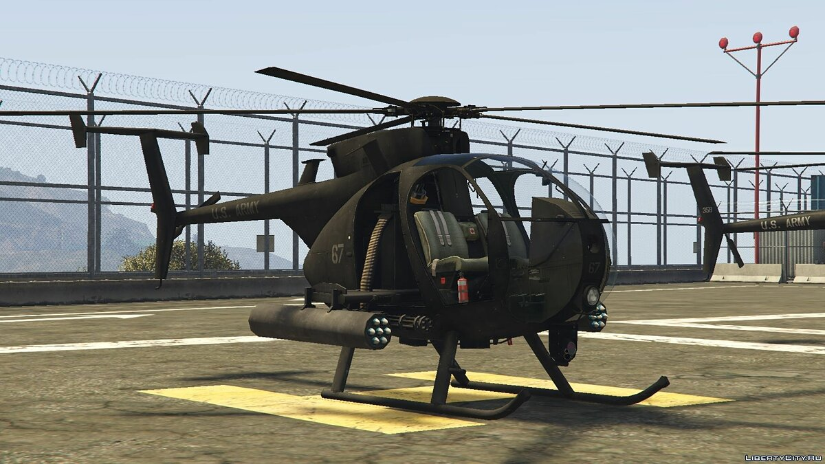 AH-6 Little Bird (attack version) для GTA 5