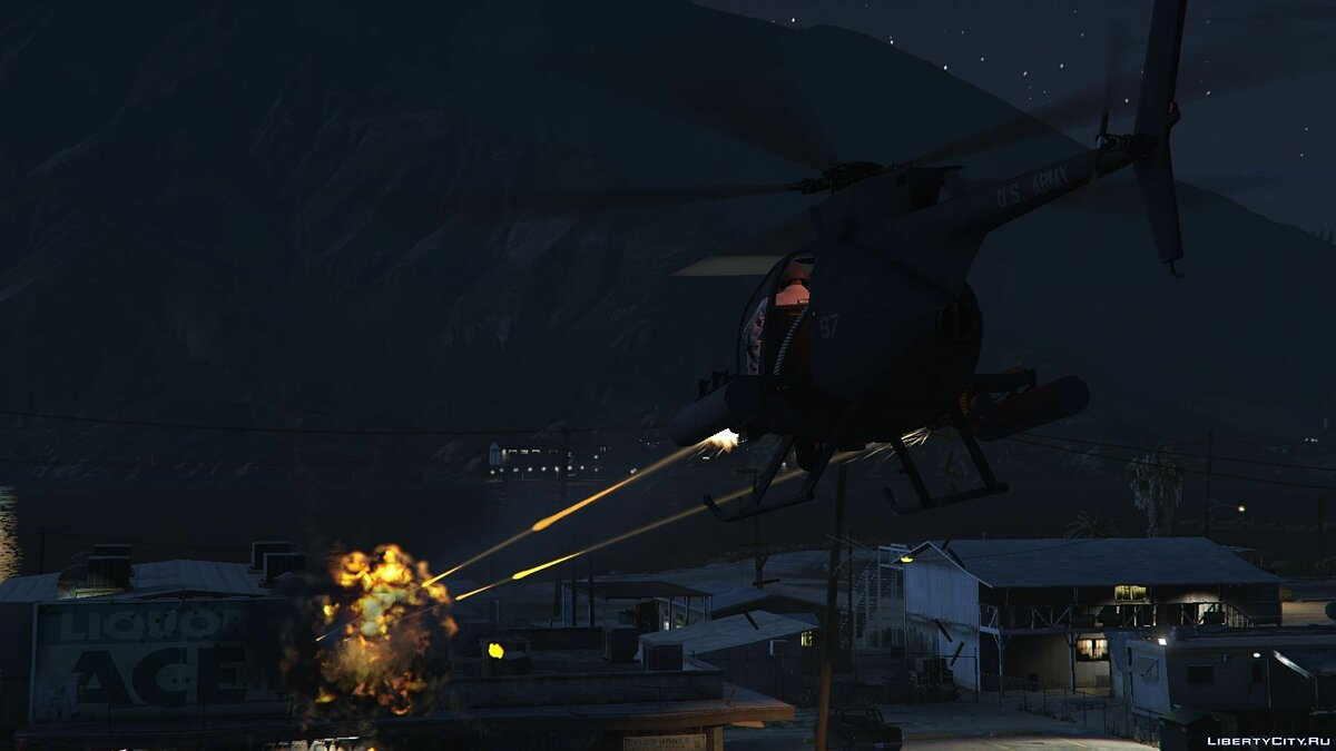 AH-6 Little Bird (attack version) для GTA 5 - скриншот #3