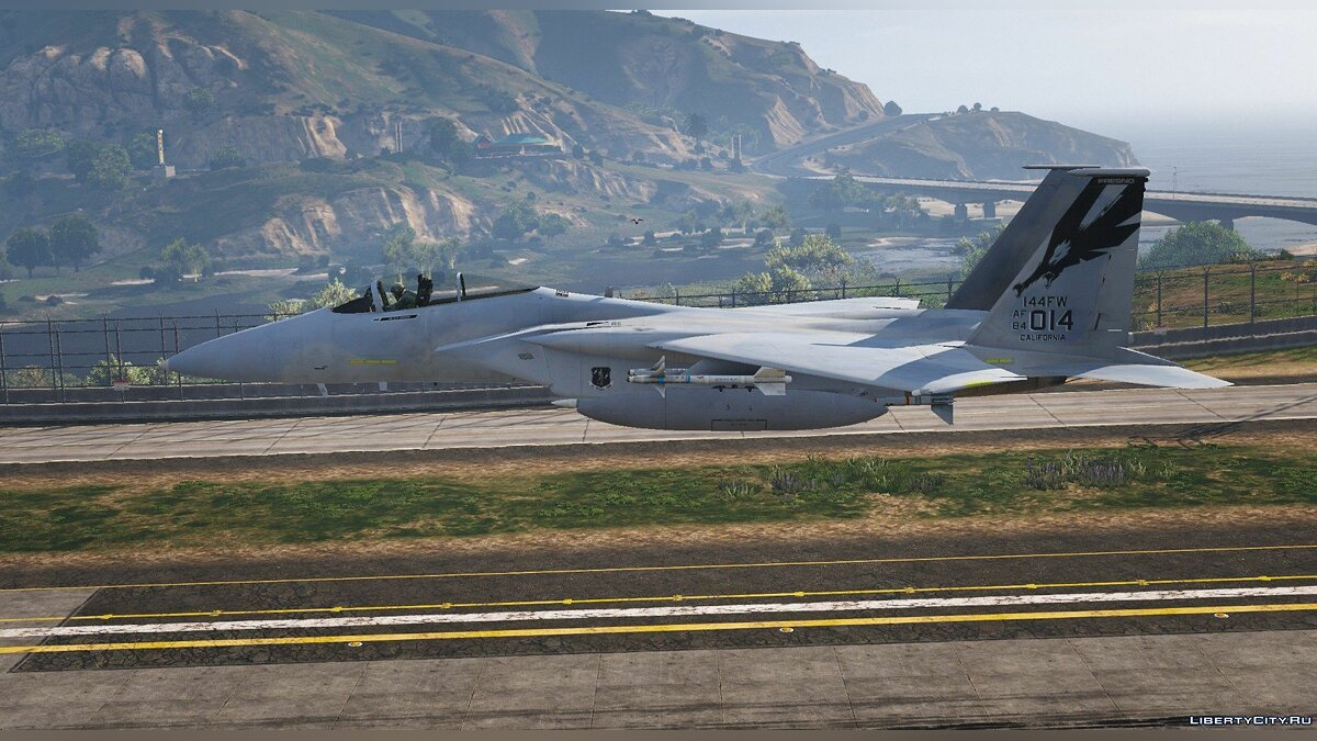 144th Fighter Wing California Air National Guard F-15c [add-on] 1.0 для GTA 5