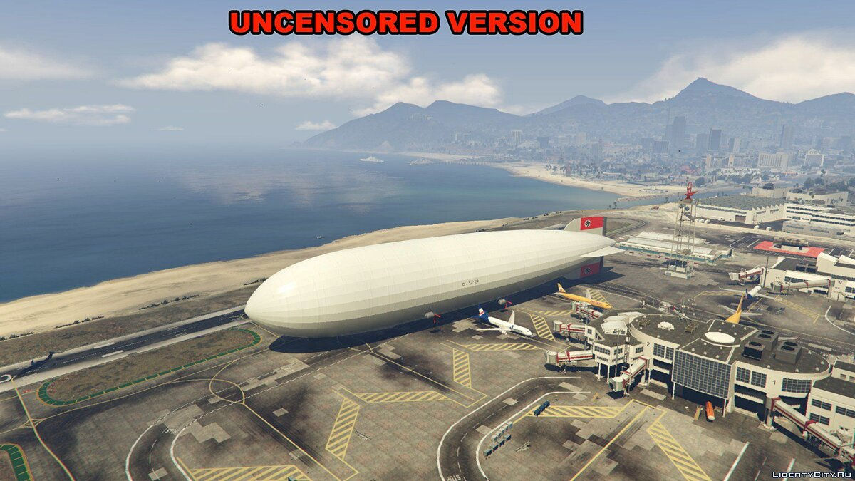 Hindenburg Airship [Add-On / Replace] 1.0 для GTA 5 - скриншот #4