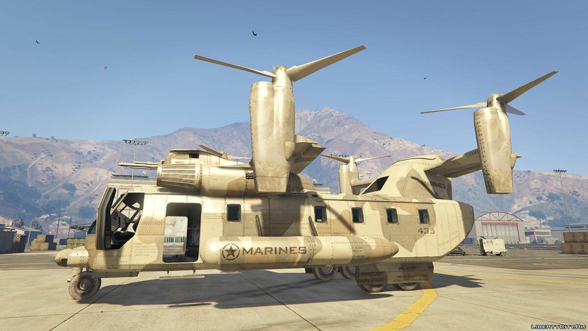 ��амолет и вертолет Amphibious Armed Cargo Plane [+ Add-On] 1.2 для GTA 5