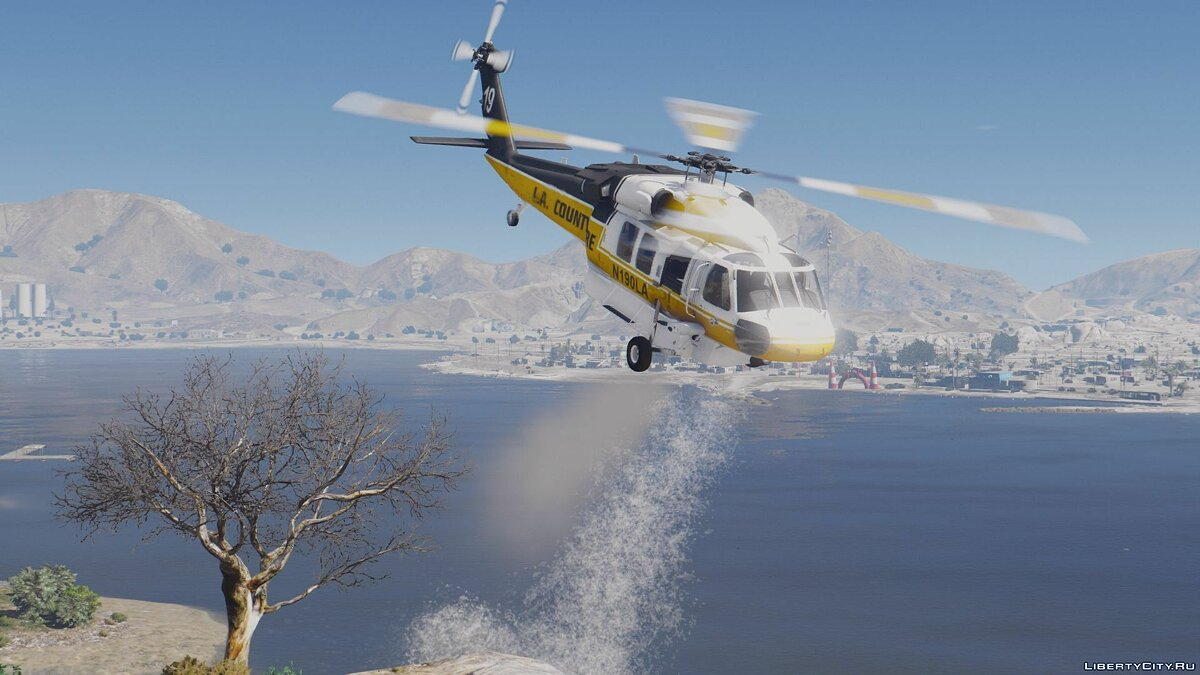S-70A Firehawk Fire Fighting Helicopter [Add-On | Wipers] для GTA 5 - скриншот #5