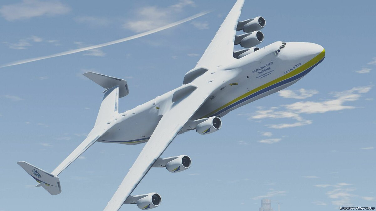 Antonov AN-225 Mriya (largest plane in the world) [Add-On] для GTA 5