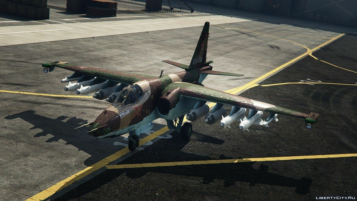 Su-25 [Add-On/Replace] v1.1 для GTA 5 - скриншот #4