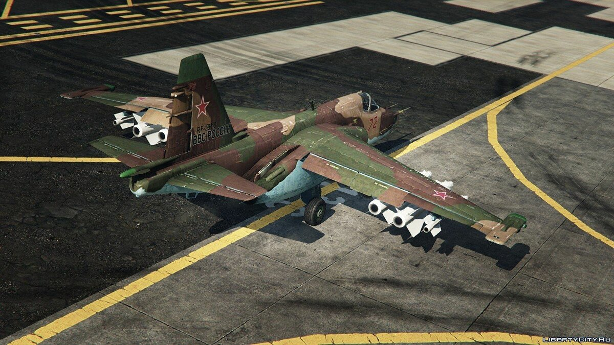 Su-25 [Add-On/Replace] v1.1 для GTA 5 - скриншот #5