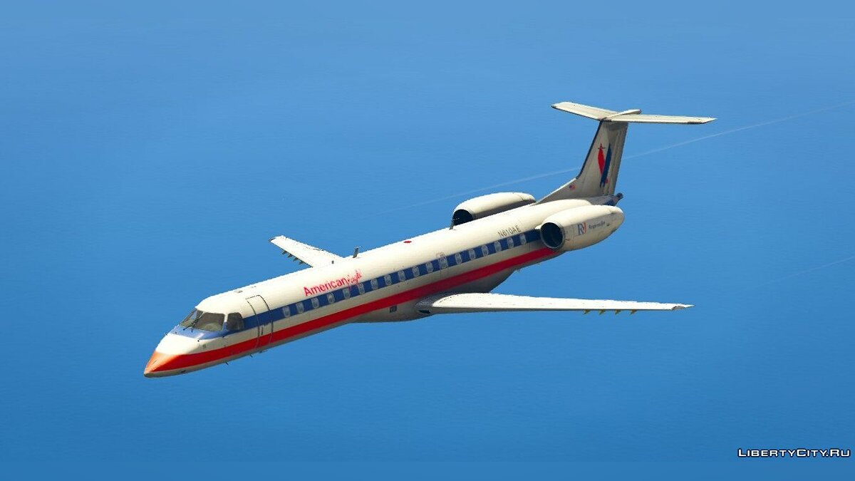 Embraer ERJ-145 LR American Eagle [Replace] для GTA 5
