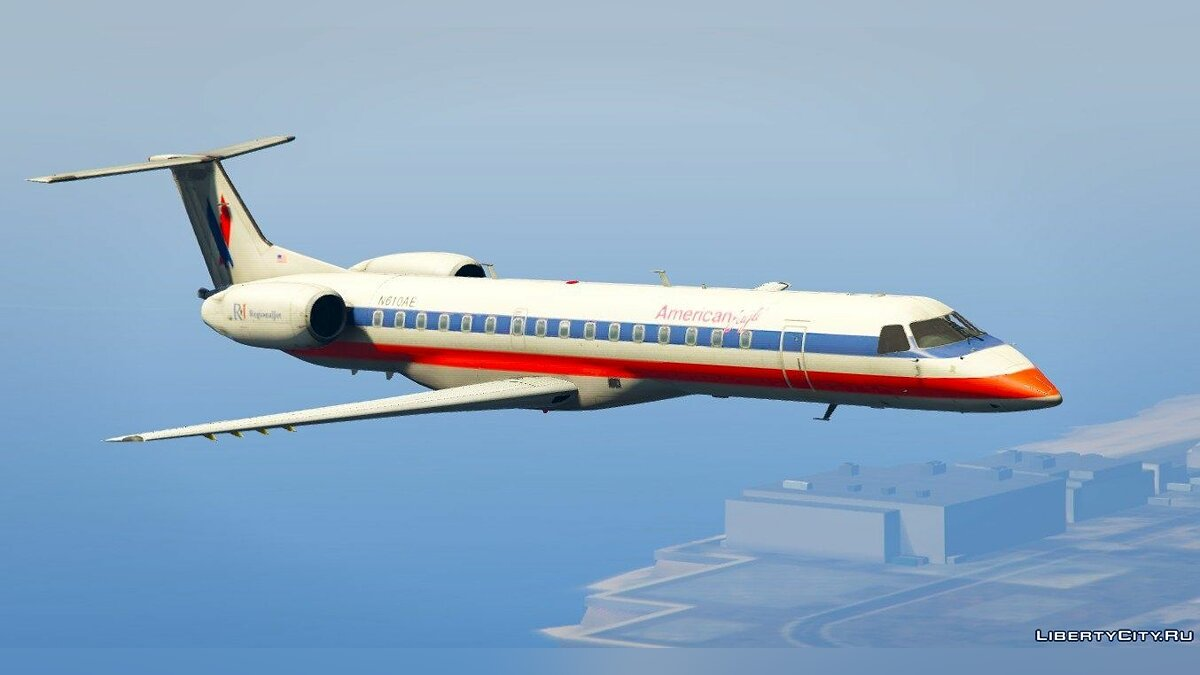 Embraer ERJ-145 LR American Eagle [Replace] для GTA 5 - скриншот #2