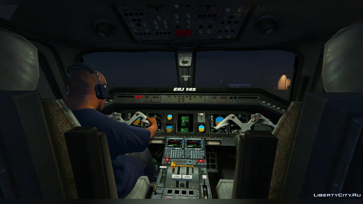 Embraer ERJ-145 LR American Eagle [Replace] для GTA 5 - скриншот #4