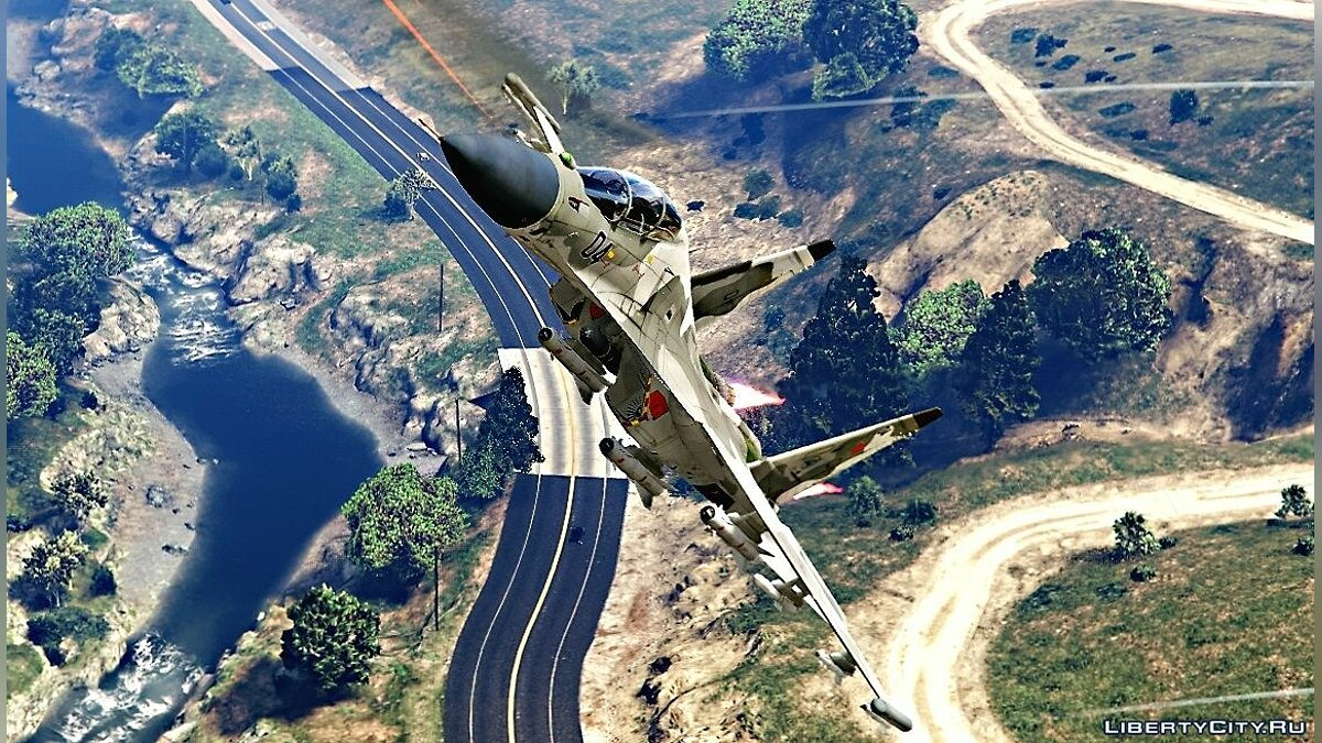 ��амолет и вертолет Sukhoi Su-30 Russian HQ [Add-On / Replace] Су-30 1.0 для GTA 5