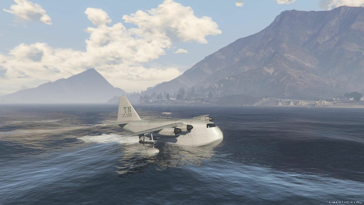 ��амолет и вертолет Amphibious Plane [+ Add-On] для GTA 5