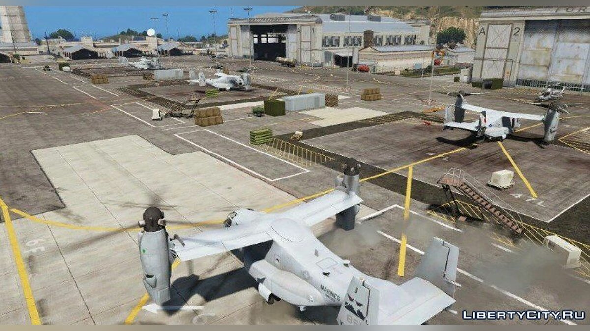 USMC MV-22B Osprey [REPLACE] (8 liveries / Illum. Rotors) 1.0 для GTA 5 - скриншот #6