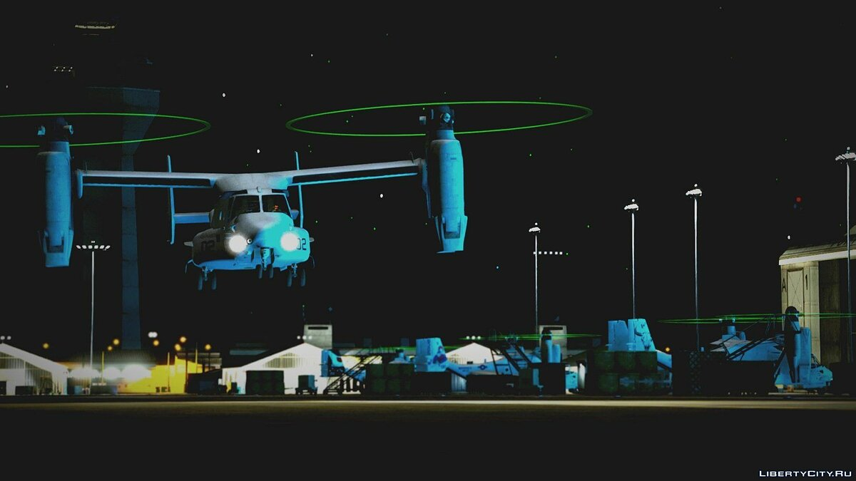 USMC MV-22B Osprey [REPLACE] (8 liveries / Illum. Rotors) 1.0 для GTA 5 - скриншот #9