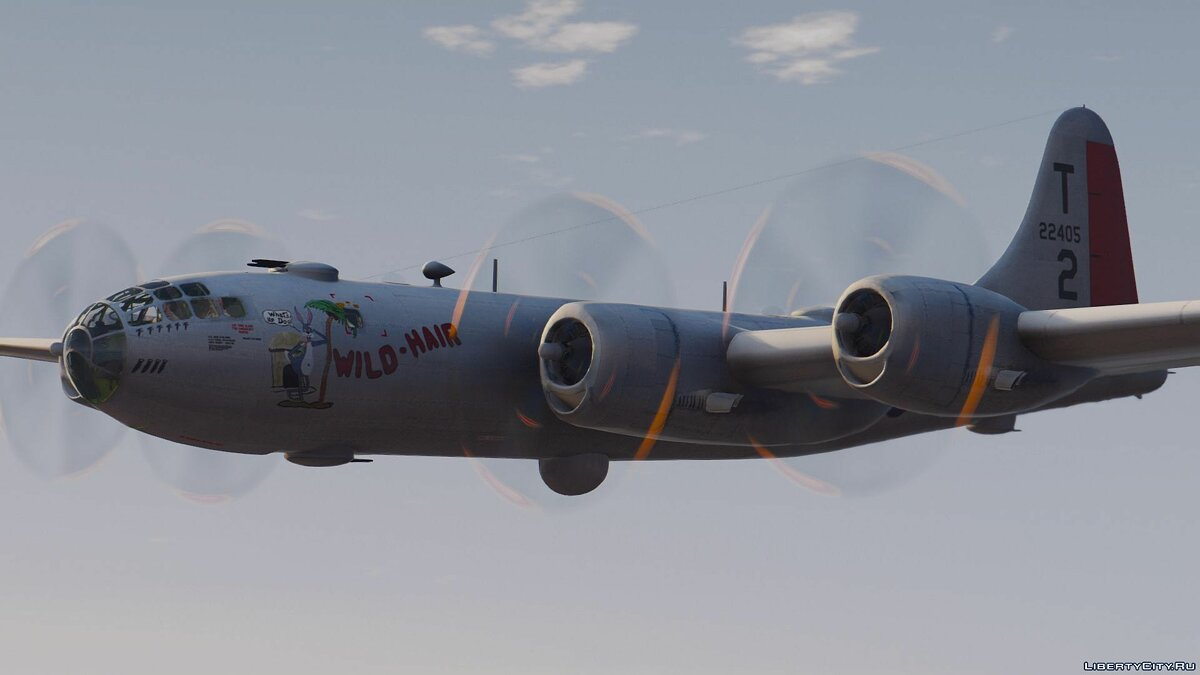 B-29A Superfortress (Hiroshima and Nagasaki Bomber) [Add-On] для GTA 5 - скриншот #3