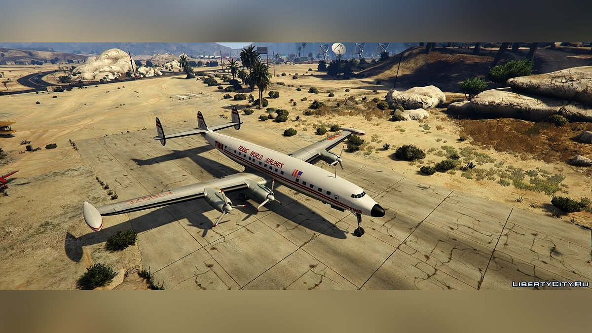 Самолет и вертолет Lockheed L-1049 Super Constellation [Add-On] 1.0 для GTA 5