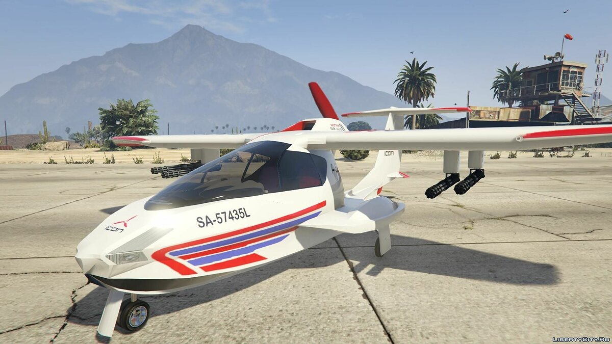 ��амолет и вертолет Icon A5 Sport [+ Add-On] для GTA 5