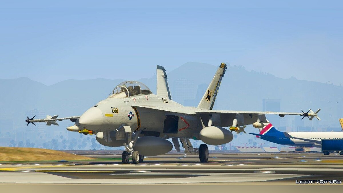 ��амолет и вертолет F/A-18F Super HcDonne [Replace] для GTA 5