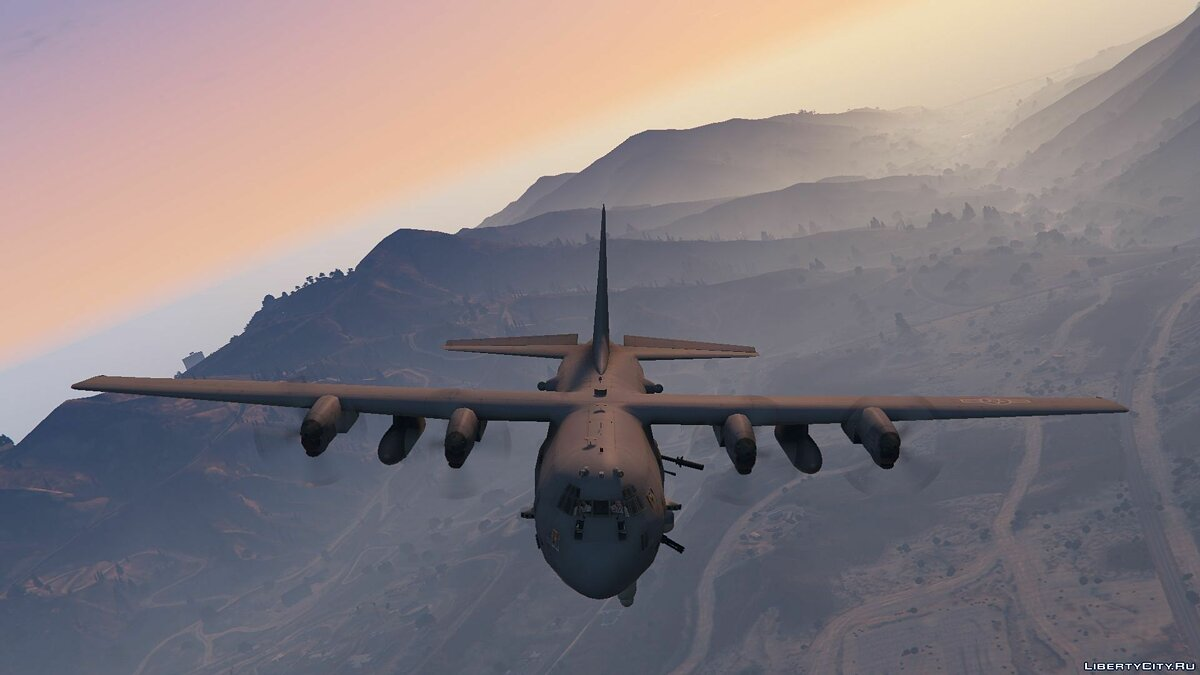 AC-130U Spooky II Gunship [Add-On | Working Cannons] для GTA 5 - скриншот #2