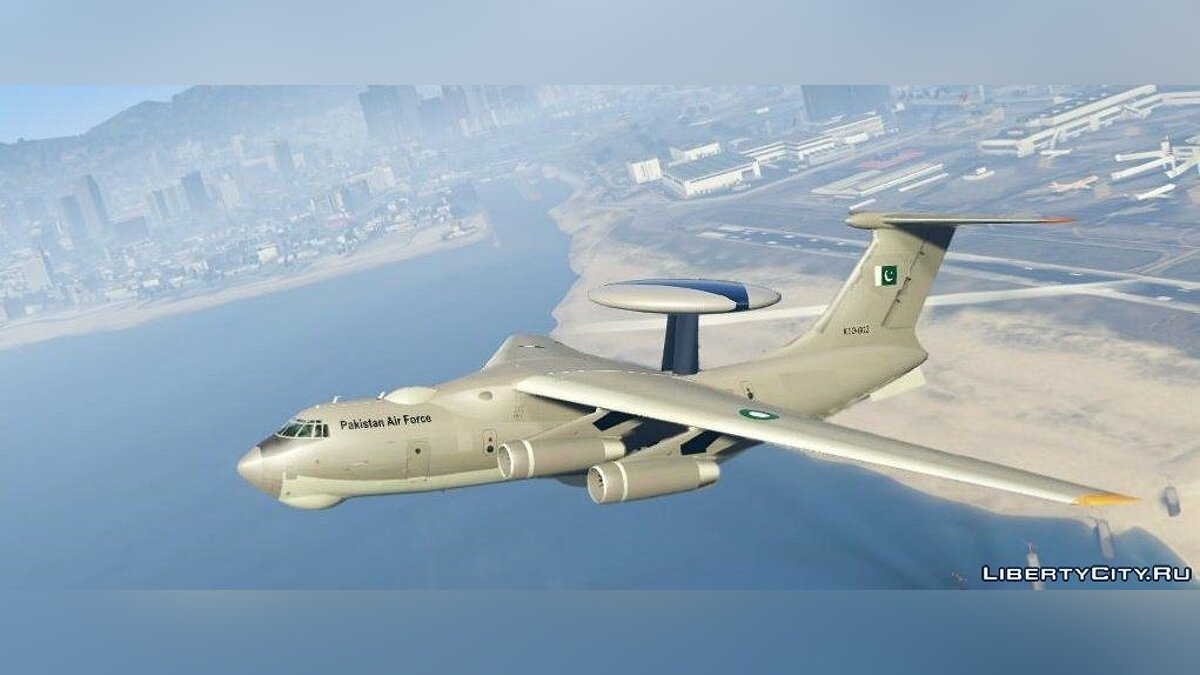 KJ2000/Beriev A-50 AWE&C Pakistan [Add-On / Replace] 1.1 для GTA 5