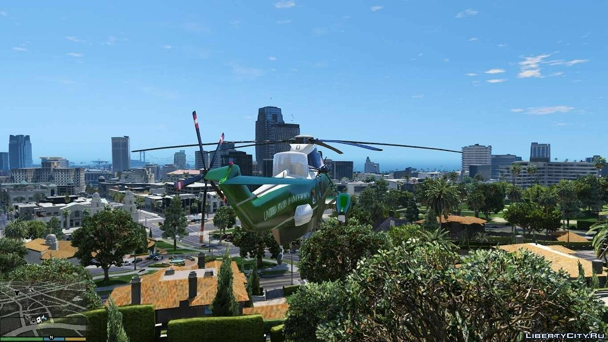 Самолет и вертолет Sikorsky SH-3 Marine One ADDON/REPLACE 1.0 для GTA 5