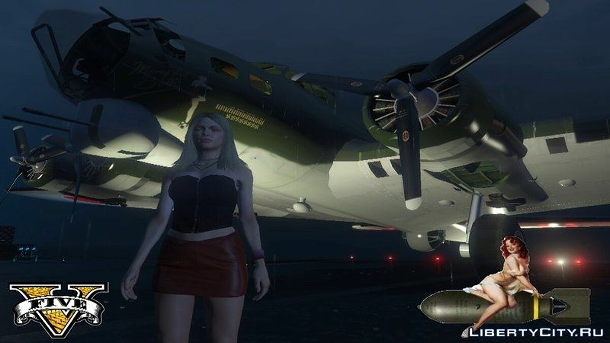 Lady Bomber Boeing B 17 Flying Fortress для GTA 5 - скриншот #2